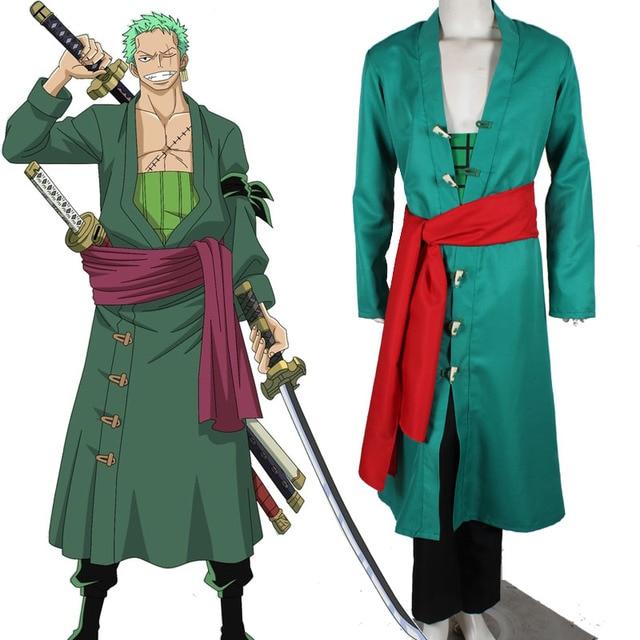 2017 hot anime Halloween costumes for men One Piece cosplay costume straw  hat Pirates Roronoa Zoro