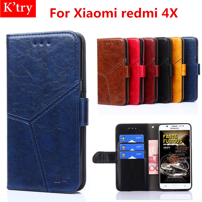 For Xiaomi redmi 4X 5.0 inch Case Flip Leather Wallet Bag Case for Xiaomi redmi 4X Cover Back Card Holder Phone Pouch Case Cover
