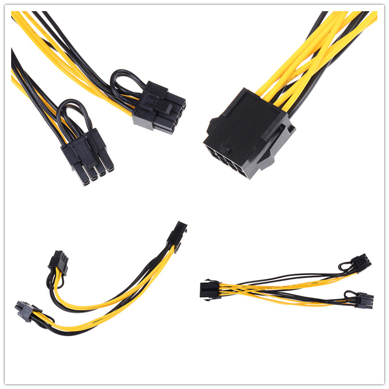 Чехол для компьютера, Графическая карта, кабель питания, 6Pin порт, двойной 8 (6 + 2) контактный порт, кабель питания сплиттера, разъем, удлинитель...