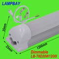Dimmable T8 integrated 4ft(1.2m) 20W led tube bulb with accessory ceiling fixture surface mounted lighting bar