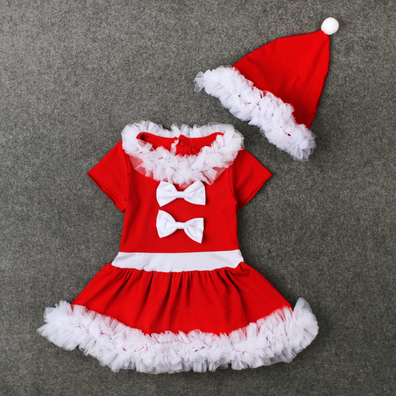 41561089e Christmas Dress for Baby Girls New Year Princess Clothes Dress + Christmas  hat Santa Party Tutu Clothing Children Girl Dresses-in Dresses from Mother  & Kids ...