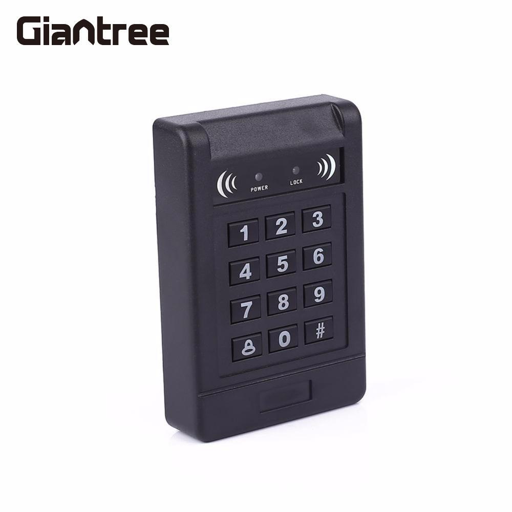 Giantree Electric ID Access Control System Waterproof Keypad Device Key Fobs Controller Door Lock  Safety Password Credit Card diysecur magnetic lock door lock 125khz rfid password keypad access control system security kit for home office