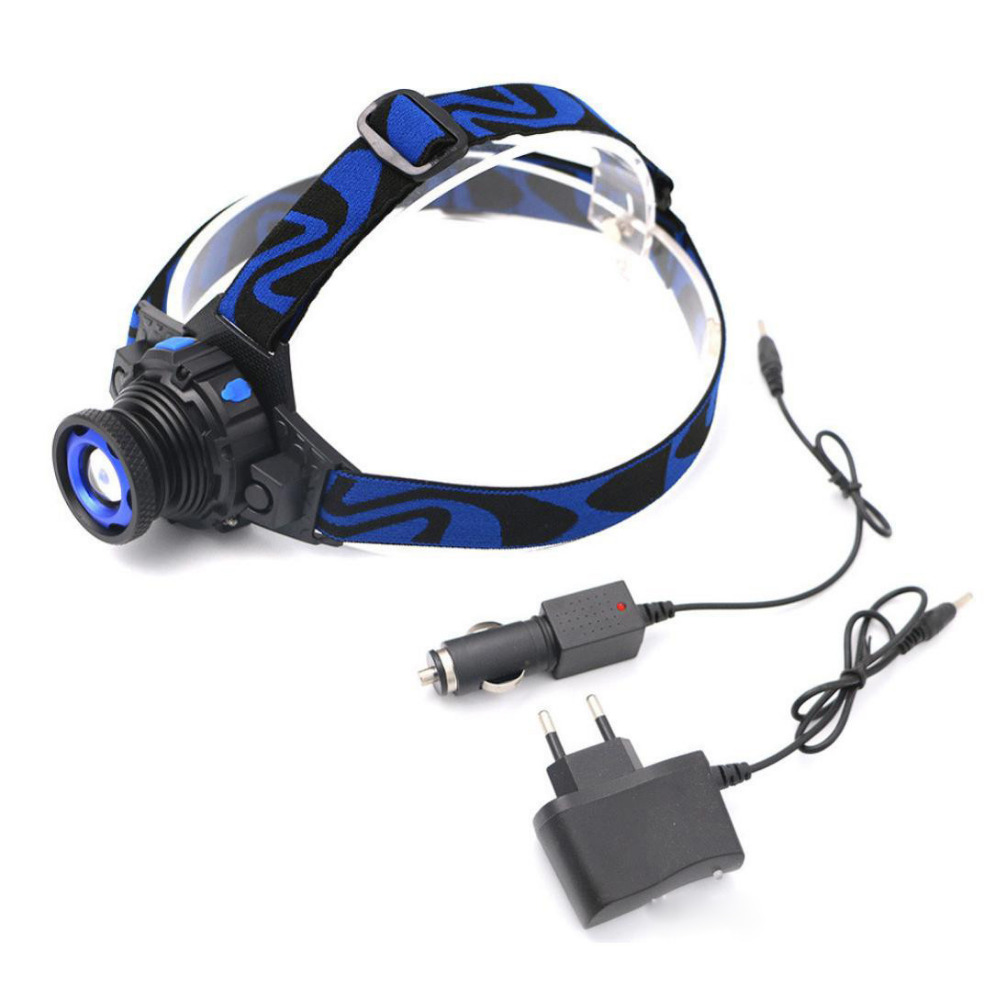 Professional Q5 Camping and hiking headlights Headlamp Tactical Headlight Rechargeable XPE LED Headlamp+Batt+Charger Outdoors#10