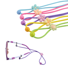 20PCS Elastic Kids Nylon Sun Glasses cord with adjustable button Colorful Anti Slip child Eyeglasses Strap Neck Cord Wholesale