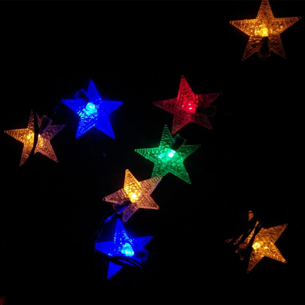Yiyang 100 звезды Солнечный открытый сад путь Лампы для мотоциклов украшения дома огни 1 ...