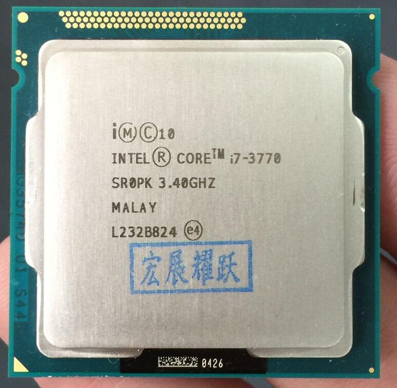 Intel Core i7-3770プロセッサーCPU LGA 1155 100%正常に動作デスクトッププロセッサーパーツケーブル同軸