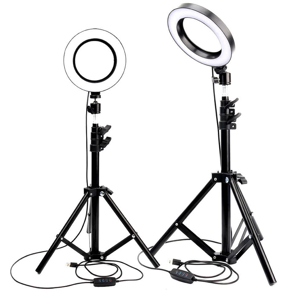 Anello di Luce A LED Macchina Fotografica Photo Studio Fotografia Luce Dimmerabile luce Video per Youtube Trucco Selfie con il Treppiedi Del Supporto Del Telefono