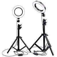 Anillo de luz LED cámara de estudio fotográfico Luz de fotografía luz de vídeo regulable para Youtube maquillaje Selfie con trípode soporte de teléfono