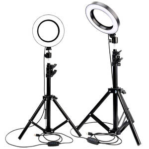 Camera Light Tripod-Phone-Holder Makeup Selfie Photo-Studio Dimmable Youtube Photography