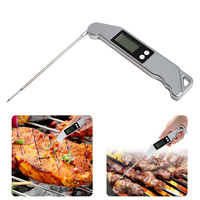 Digital Kitchen Thermometer Portable Folding Probe Temperature Meter For Cooking BBQ ASLT