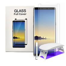 Nano Liquid For Samsung Galaxy Note8 s8 s9 plus Tempered Glass Screen Protector 3D Curved Full Coverage & UV Light Liquid