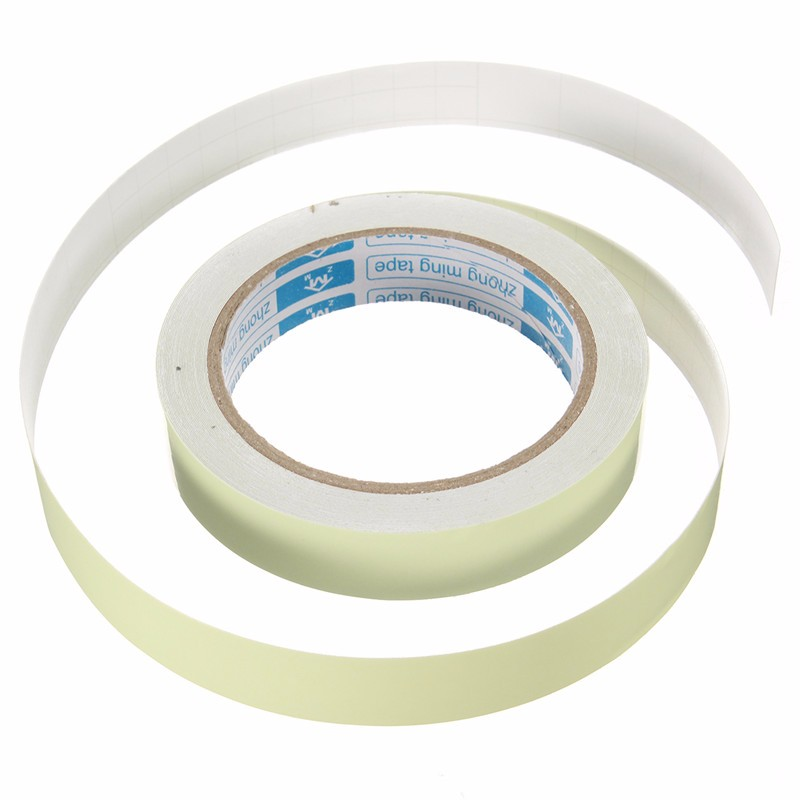 2cm x 10M Luminous Tapes Self-adhesive Warning Tape Night Vision Glow In Dark Safety Stage Warning Security Home Decoration