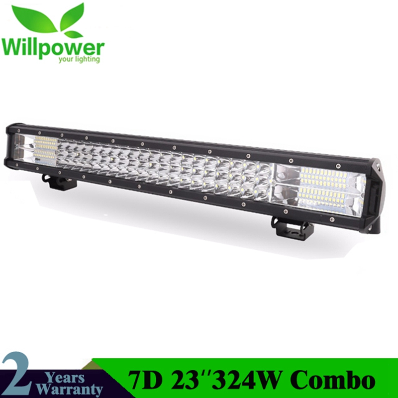 23Inch 7D 324W 3-Row LED Light Bar Offroad Led Bar Combo Beam Led Work Light Bar for Truck SUV ATV 4x4 4WD 12v 24V Work Lamp стоимость