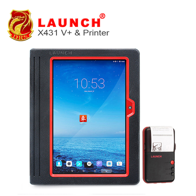2017 Global Version Launch X431Plus X431 V+ Universal Full System Car Diagnostic Scan Tool Free online Update+Mini Wifi Printer