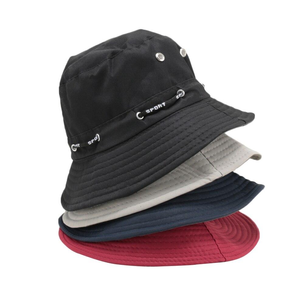2018 Neue Sommer Mode Unisex Flache Krempe Eimer Hut Erwachsene Männer Frauen Hip Hop Caps Wandern Outdoor Angeln Hut Unisex Einfach Zu Schmieren