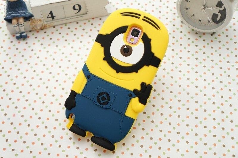 Minion Camera Case : 3d minion case for samsung note 3 iii despicable me soft rubber