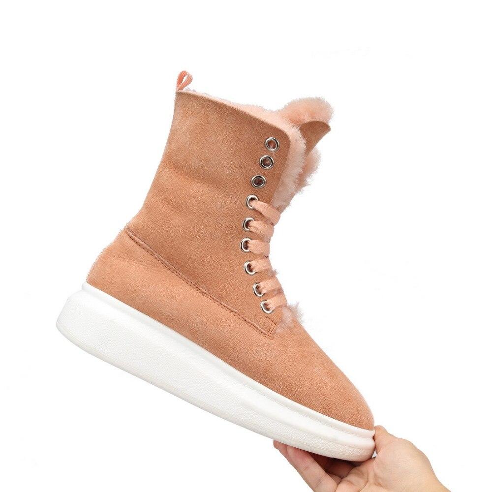 Women Snow Boots Light Khaki (5)