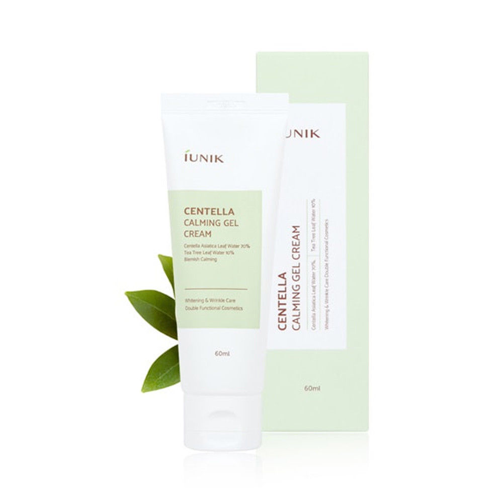 IUNIK Centella Calming Gel Cream 60ml Facial Cream Pimple Acne Scar Treament Moisturizing Cream Face Care Hydrating Anti Wrinkle