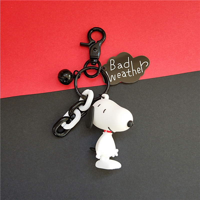 2019 New Cartoon Anime Keychain Cute Dog Figure 3D Dolls Keyrings Kids Toys for Women Bag Car Key Pendant Decorate Jewelry in Key Chains from Jewelry Accessories