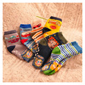 Children Socks   new Free shipping 95% cotton non slip character kids Thickening sock 2-5 year boys clothes 6pair 14-16cm