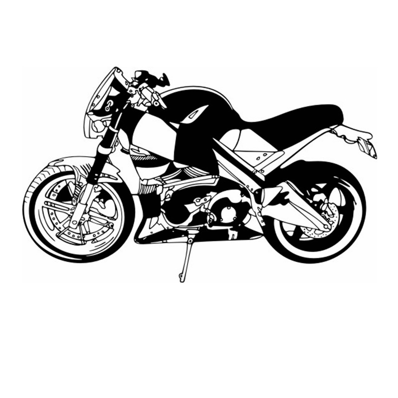 Heavy Motorcycle Sticker Vehicle Decal Classic Punk Posters Vinyl Wall Decals Autobike Parede Decor Mural Autocycle Sticker