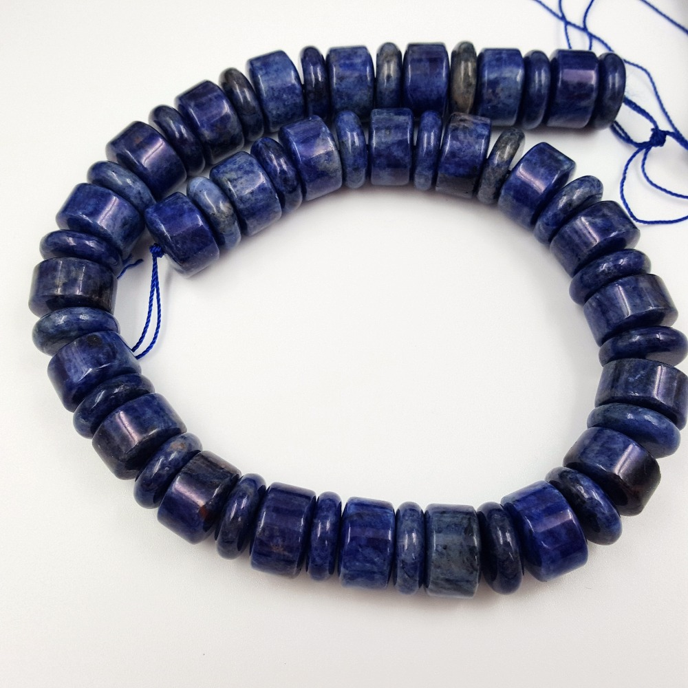 LiiJi Unique Stock Sale Natural Stone Dye Sodalite Tube Shape 15mm Loose Beads for DIY Jewelry Making 38cm/15