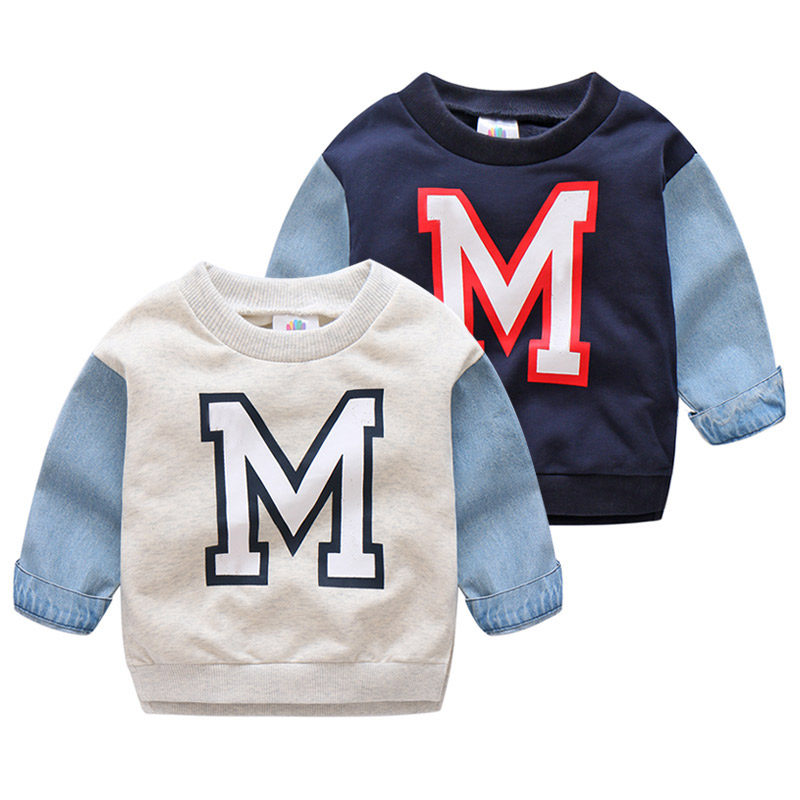 Kids O-neck Sweatershirt For Boys Long Sleeve Cotton Casual Clothes Spring Letter Pattern Casual Hoodies Costume