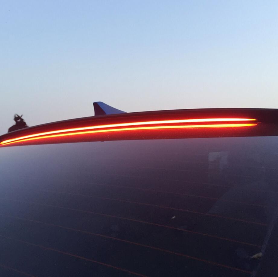 Pour Hyundai Sonata Voiture Décoration 2011 2012 2013 2014 2015 2016 2017 ABS En Plastique Peinture Peinture Couleur Coffre Arrière LED Spoiler - 3