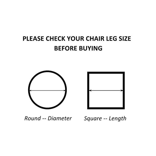 8Pcs/lot Chair Leg Caps Chair leg Protector covers Furniture Table leg Covers Round Bottom Circle for Round Rectangular square 5