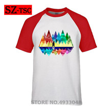 2019 new Men short sleeve t shirt nature, mountains, landscape, outdoors, hiking, bear, animals Printed t-shirt Male tops tees