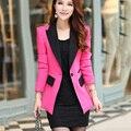 2017 mulheres blazer terno feminino se adapte às mulheres blazer revestimento do revestimento das mulheres jaquetas blaser feminino 2017 3xl-xxxl, B2413