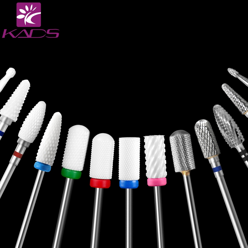 KADS 25 Sizes Choice Various Multi-size Ceramics & Alloy Nail Equipment Drill Machine Manicure And Pedicure Tools Nail Drill Bit