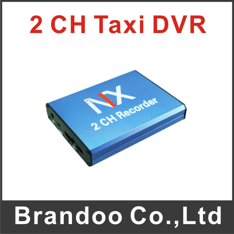 ФОТО  2 channel CAR DVR, works with 1pcs 128GB SD card,used for car,taxi, BD-302
