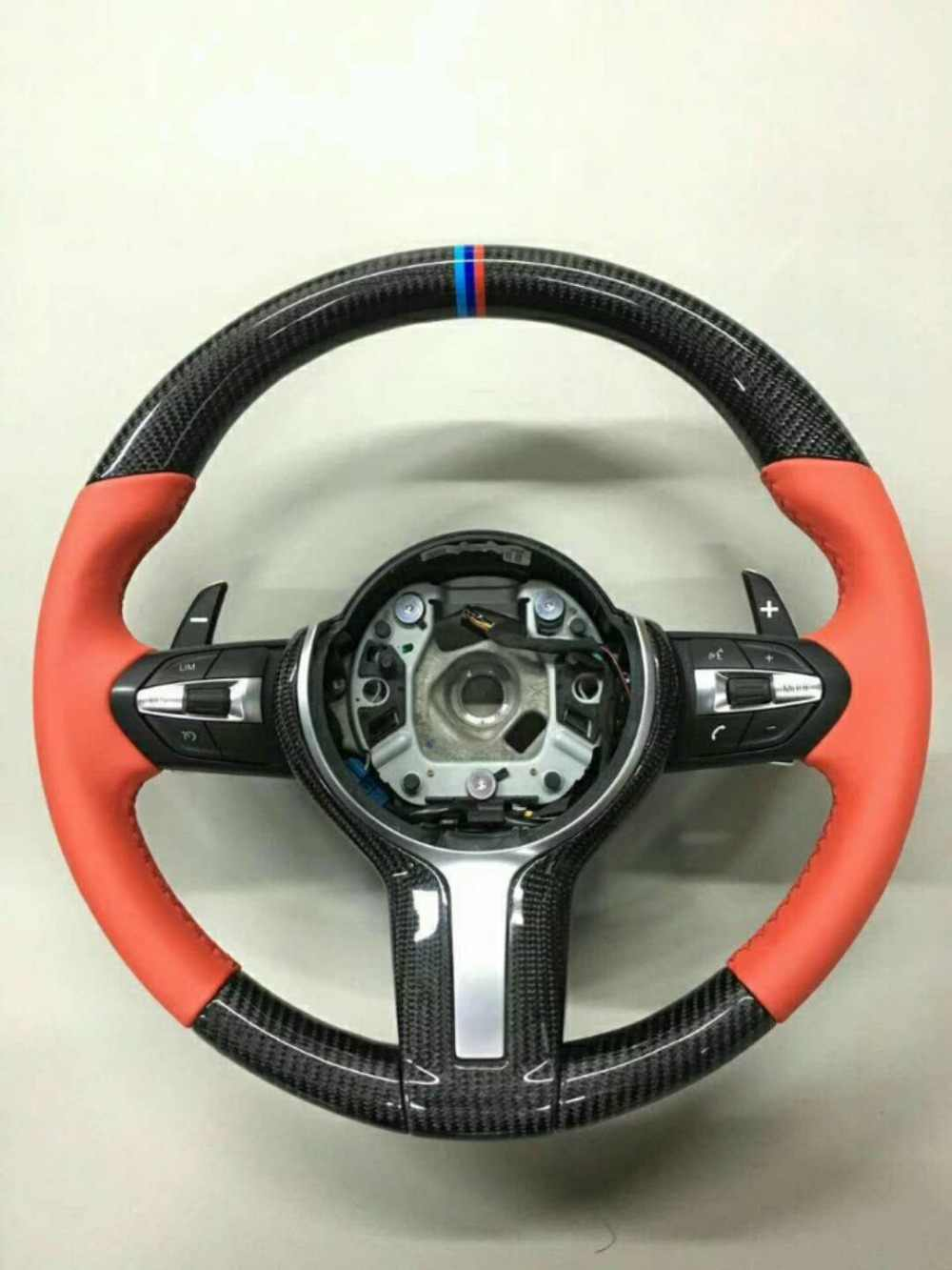 Carbon Fiber & Leather Steering Wheel for BMW 3 F30 M3 11-