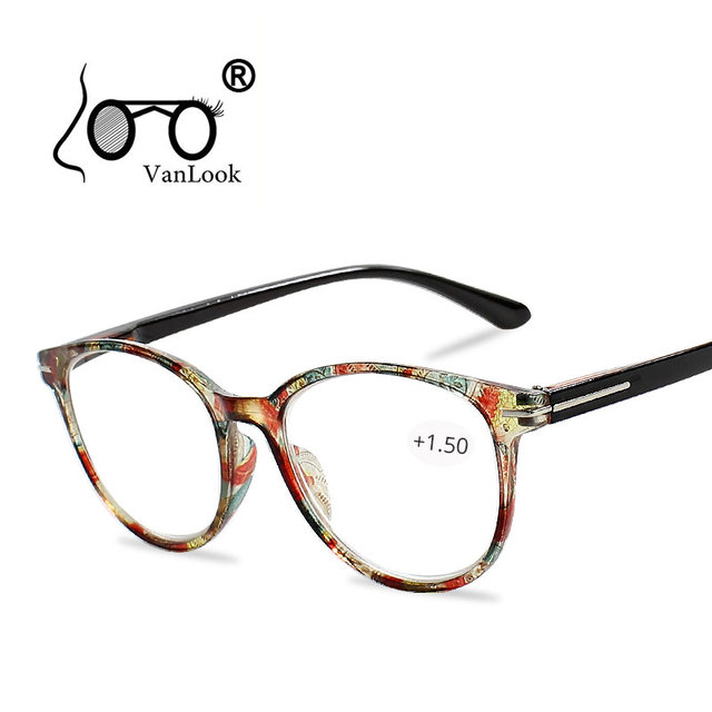 7fbb8ad3c2dcf Floral Cat s Eye Reading Glasses with Diopters Women s Spectacles Degree  Eyeglasse Frame for Sight +1.0 +1.5 2.0 2.5 3.0 3.5 4.0
