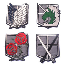1 Freedom Wings 3D Embroidered Armband Law Enforcement Unicorn / Keeping Rose Personality Clothing Decoration Badge Patch embroidered rose patch tee dress