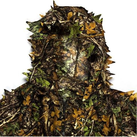 Outdoor Woodland Camouflage Tactical Camo Ghillie Suit Kit Cloak Military 3D Leaf Jungle Hunting Camouflage Sniper Clothes