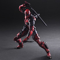 PLAY ARTS 27cm Marvel X men Deadpool Super Hero Action Figure Model Toys