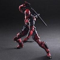 PLAY ARTS 27cm Marvel X Men Deadpool Super Hero Action Figure Model Toys