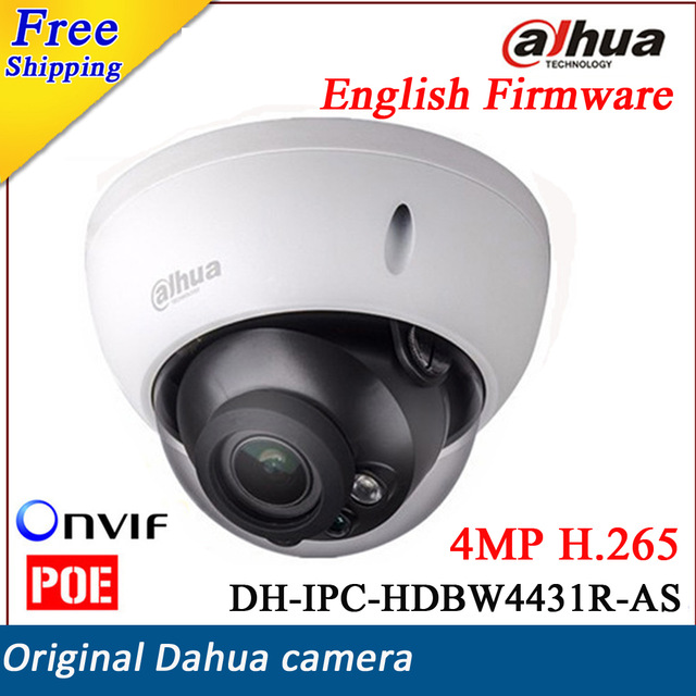Nuova versione english dahua ip camera ipc-hdbw4431r-as hd 4mp hdbw4431r-as h.265 vandal dome network ir support poe sd card 4mp poe dahua covert pinhole camera main unit ipc hum8431 e1 h 265 support smart detection and sd card metal case
