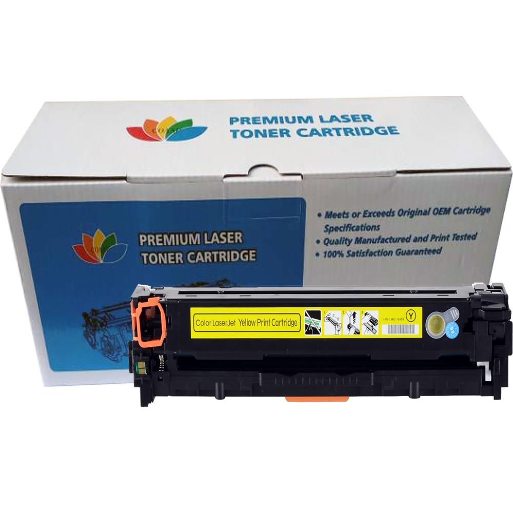 Cartouche de Toner Compatible COAAP CF540A 203A pour HP Color LaserJet Pro M254dw 254nw MFP M281cdw 281fdw 280nw (avec puce) - 5