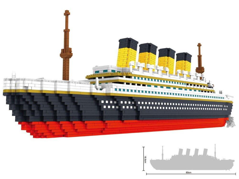 Big RMS Titanic Model Building Block Set 3800pcs - Nano Micro Blocks Mini legoing leping DIY Toy for Kids Gift wl mini blocks captain america animal fruit intelligence model building nanoblock diy cute party supplies toy