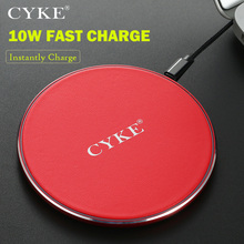 Brand Wireless Charger Quick for recharge Mobile Phone Thin Round Black Pad USB Port Home