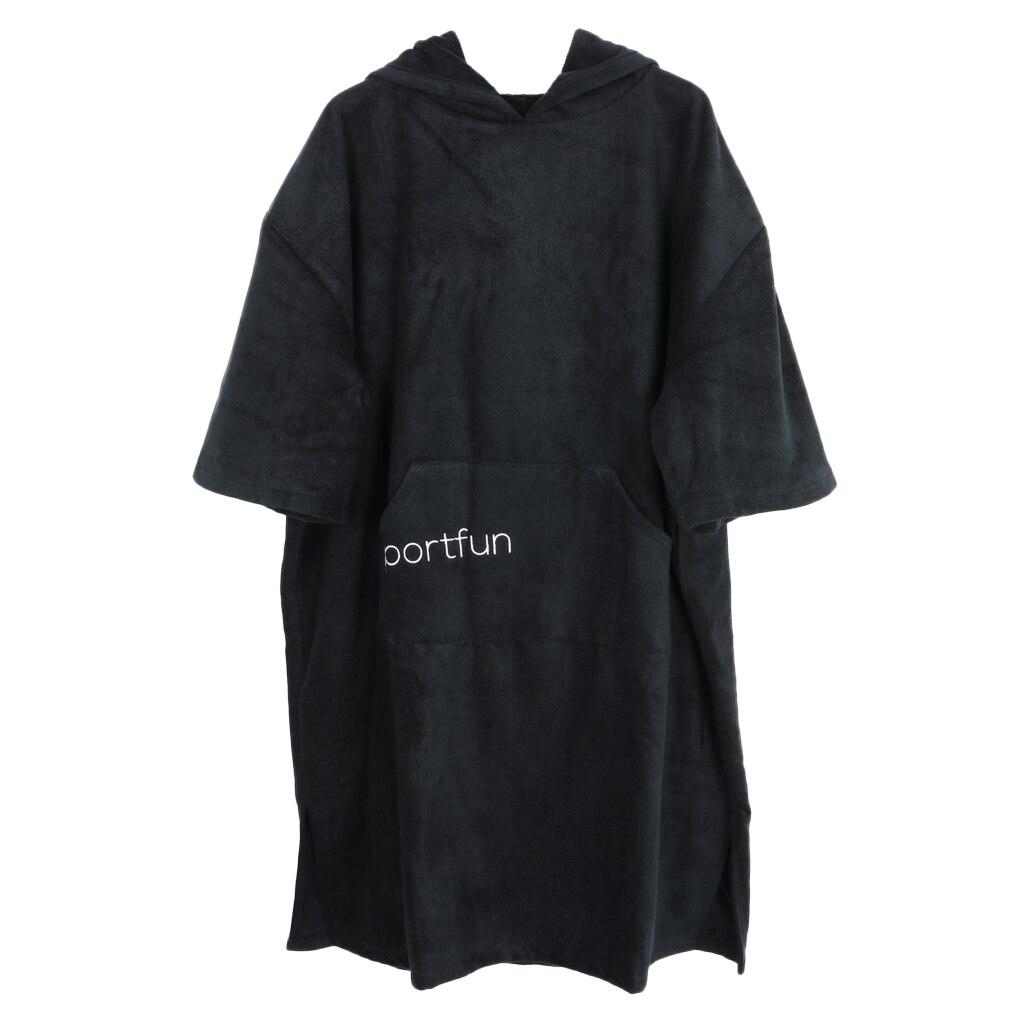 Femmes Hommes Microfibre Combinaison Changer Robe Poncho avec Capuche de Bain à Séchage rapide Plage Piscine Surf Serviette Compact et Léger Peignoir