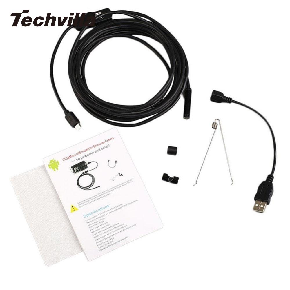 Techvilla Portable Mini 2 M 7 MM Android Endoscope D'inspection USB Endoscope LED Tube Serpent Caméra Micro Caméras