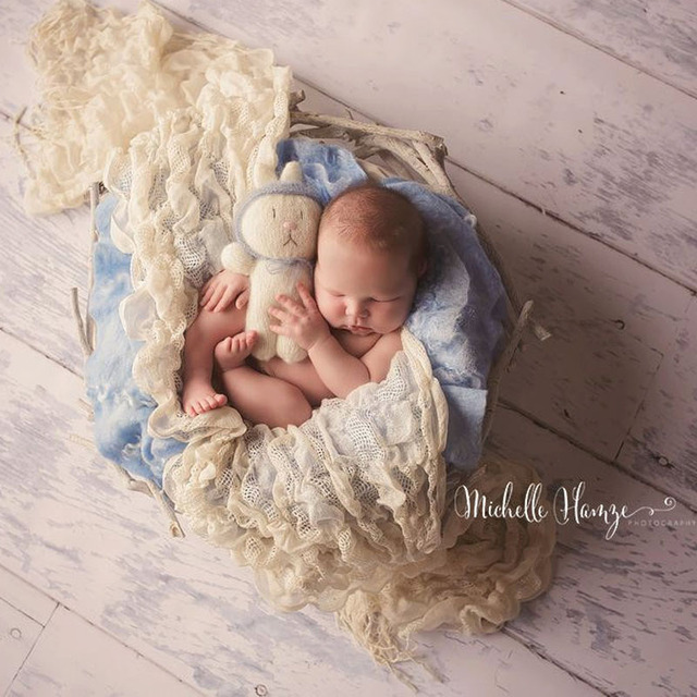 Newborn photography props fabric wrapped potato sack wraps newborn photography wrapping accessories baby girls boys photo