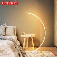 LOFAHS modern white brown Led Floor Lamp Aluminum Floor Light For Living room bedroom room porch Standing light