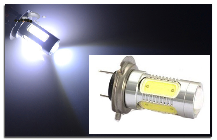 H7 7.5W COB Projector LED Bulbs Xenon White Car Auto Fog Driving DRL Headlight Lamp Light DC12V car cob led h7 bulb fog light parking lamp bulbs driving foglight 7 5w drl 2pcs amber yellow white red ice blue