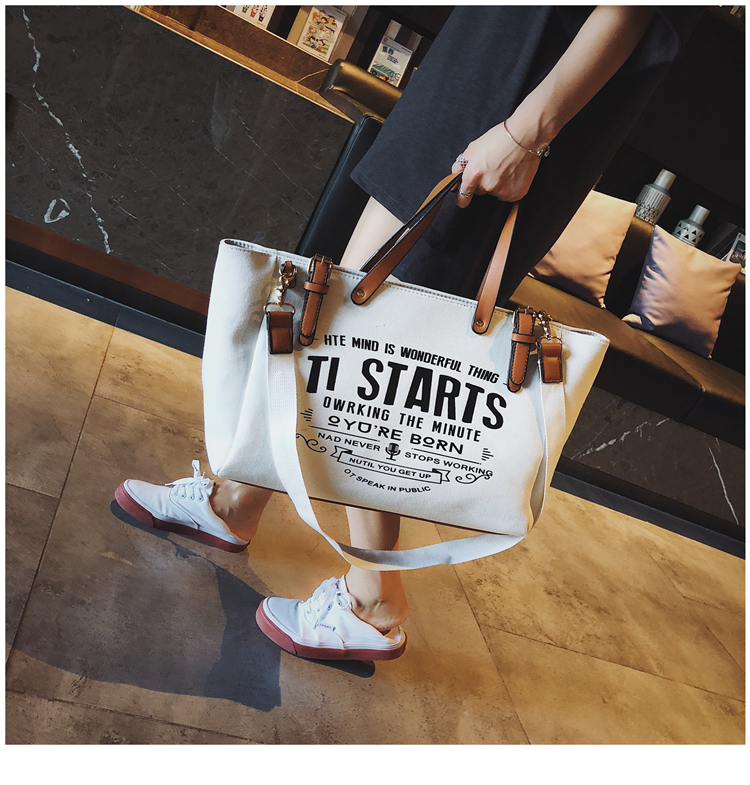 Luxury Ladies Bags Canvas Fashion Large Capacity Tote Bags Letter Shoulder Messenger Bags for Women 2018 Casual Tote Luis Vuiton 13