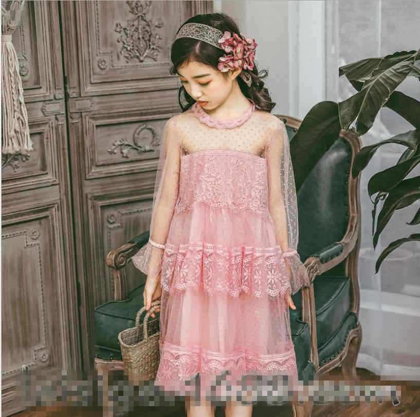 60c801d33b59 ... Korea Girls Dresses 2019 New Girls Princess Party Dress Lace Kids  Valentines Dress Fashion High- ...